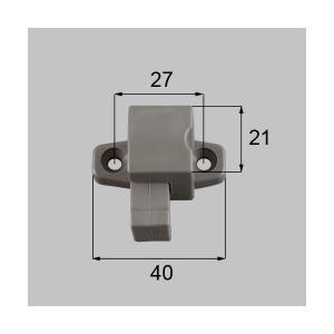 送料込み リクシル 新日軽 窓(サッシ) 引違い窓 マンション用 指挟み防止ストッパー(起倒式) NETBL00101 SVVM163A 部品色:ステンカラー|homematerial