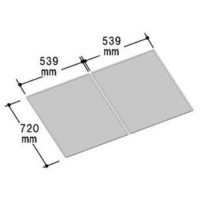 お風呂のふた INAX 風呂ふた 組みふた YFK-1175B(13) サイズ:幅539×奥行720mm×2枚組 風呂フタ イナックス|homematerial
