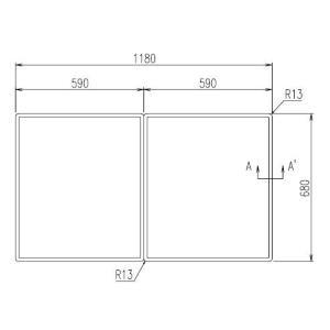 お風呂のふた INAX 風呂ふた 組みふた YFK-1270B(2) サイズ:幅590×奥行680mm×2枚組 風呂フタ イナックス|homematerial