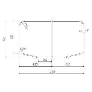 お風呂のふた INAX 風呂ふた 組みふた YFK-1375B(1)-D サイズ:幅630×奥行720mm×2枚組 風呂フタ イナックス|homematerial