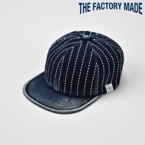 ベースボールキャップ メンズ レディース 帽子 TheFactoryMade ファクトリーメイド 藍染め 刺し子 SASHIKO CAP サシコ キャップ|homeroortega