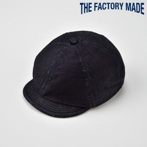 キャスケット メンズ レディース 帽子 TheFactoryMade ファクトリーメイド つば付き 畳調 TATAMI CAS Navy タタミ キャス|homeroortega