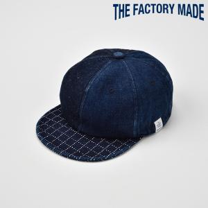 ベースボールキャップ メンズ レディース 帽子 TheFactoryMade ファクトリーメイド 藍染め SASHIKO Brim CAP 刺し子ブリムキャップ|homeroortega