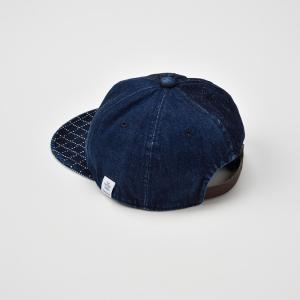 ベースボールキャップ メンズ レディース 帽子 TheFactoryMade ファクトリーメイド 藍染め SASHIKO Brim CAP 刺し子ブリムキャップ|homeroortega|03