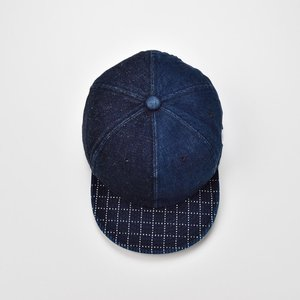 ベースボールキャップ メンズ レディース 帽子 TheFactoryMade ファクトリーメイド 藍染め SASHIKO Brim CAP 刺し子ブリムキャップ|homeroortega|04