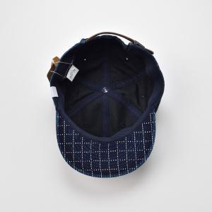 ベースボールキャップ メンズ レディース 帽子 TheFactoryMade ファクトリーメイド 藍染め SASHIKO Brim CAP 刺し子ブリムキャップ|homeroortega|05