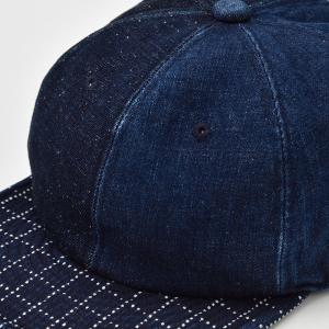 ベースボールキャップ メンズ レディース 帽子 TheFactoryMade ファクトリーメイド 藍染め SASHIKO Brim CAP 刺し子ブリムキャップ|homeroortega|06