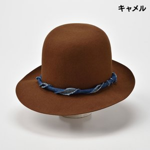 ボーラーハット メンズ レディース 帽子 TheFactoryMade ファクトリーメイド 日本製 Open Crown オープン クラウン|homeroortega|07