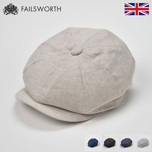 帽子/高級ハンチング帽/Failsworth(フェイルスワース)/Irish Linen Alfie(アイリッシュ リネン アルフィー)イギリス製ツイードキャップ/メンズ・レディース|homeroortega