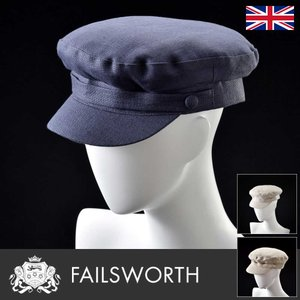 帽子/高級ハンチング帽/Failsworth(フェイルスワース)/Irish Linen Mariner(アイリッシュ リネン マリナー)イギリス製ツイードキャップ/メンズ・レディース|homeroortega