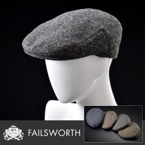 ハンチング 帽子 メンズ レディース Failsworth フェイルスワース 秋冬 Donegal Tweed Cap ドネガル ツイード キャップ homeroortega