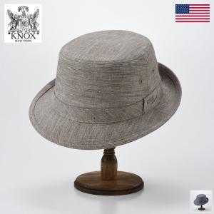 ハット メンズ レディース 帽子 KNOX ノックス Linen Dungaree Alpine Hat(リネン ダンガリー アルペン ハット)|homeroortega