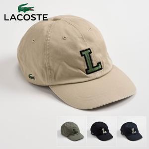 ベースボールキャップ メンズ 帽子 レディース 野球帽 LACOSTE ラコステ 秋冬 L3482 Logo Cap One ロゴキャップ ワン|homeroortega