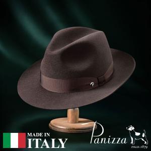 帽子 フェルトハット メンズ レディース Panizza パニッツァ PISTOIA LISCIO ピストイア リスシオ 中折れハット 秋冬|homeroortega