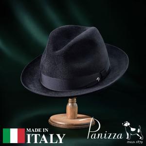 帽子 フェルトハット メンズ レディース Panizza パニッツァ NAPOLI NERO ナポリ ネーロ 中折れハット 秋冬|homeroortega