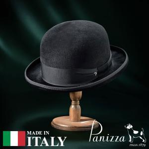 帽子 フェルトハット メンズ レディース Panizza パニッツァ FERRARA ARCO フェラーラ アルコ ボーラーハット 秋冬|homeroortega