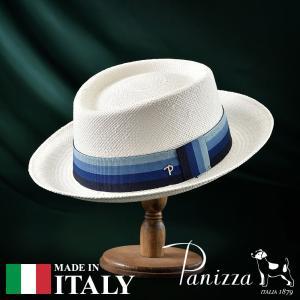 帽子 パナマハット メンズ レディース Panizza パニッツァ FABRIZIO BIANCO ファブリツィオ ビアンコ ポークパイハット 春夏|homeroortega