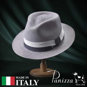 帽子 パナマハット メンズ レディース Panizza パニッツァ MINDO GRIGIO ミンド グリージョ 中折れハット 春夏|homeroortega