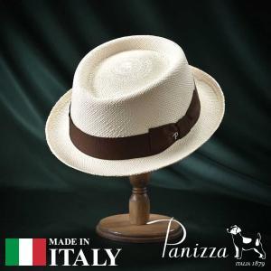 帽子 パナマハット メンズ レディース Panizza パニッツァ POSITANO SEMIBIANCO ポジターノ セミビアンコ ポークパイハット 春夏|homeroortega