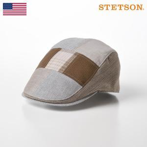 STETSON ハンチング帽 メンズ 帽子 キャップ サイズ調節 春 夏 PATCHWORK HUN...