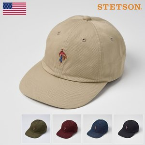 ベースボールキャップ メンズ レディース 帽子 STETSON ステットソン MASCOT CAP SE409 (マスコットキャップ SE409)|homeroortega