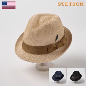 ストローハット メンズハット レディース 帽子 STETSON ステットソン MANISH SH737(マニッシュ SH737)|homeroortega