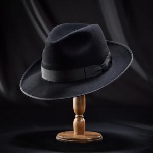 フェルトハット メンズ レディース ソフトハット S M L XL 黒 ラビット 紳士帽 TONAK ノーブル|homeroortega