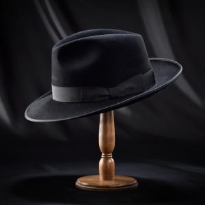 フェルトハット メンズ レディース ソフトハット S M L XL 黒 ラビット 紳士帽 TONAK ノーブル|homeroortega|02