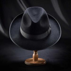 フェルトハット メンズ レディース ソフトハット S M L XL 黒 ラビット 紳士帽 TONAK ノーブル|homeroortega|03