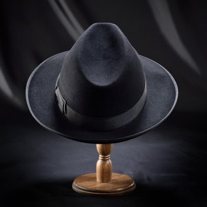 フェルトハット メンズ レディース ソフトハット S M L XL 黒 ラビット 紳士帽 TONAK ノーブル|homeroortega|04