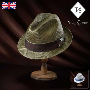 9071a713be0 帽子 高級ストローハット Tom Smarte(トムスマート) 708 Parasisal Trilby(708  パラシゾールトリルビー)イギリスブランド中折れハット メンズ・レディース