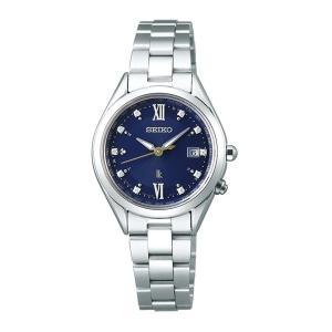 (国内正規品)(セイコー)SEIKO 腕時計 SSQV071 LUKIA(ルキア) レディース ペアモデル 2019 エターナルブルー 限定 チタンバンド 電波ソーラー|ホームショッピング