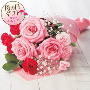 (母の日ギフト/メーカー直送)母の日花束 バラ・カーネーション・かすみ草(プレゼント 生花 フラワー)(代引不可)(ラッピング不可)|homeshop