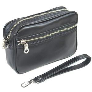 【国産】G-GUSTO 湿式合皮小型セカンドポーチ(黒) 25585/01 【セカンドバッグ】【平野鞄】(メール便不可)|homeshop