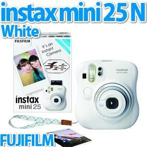 【納期:1週間程度】富士フィルム インスタントカメラ チェキ instax mini 25 WT(ホワイト) N[メール便不可] homeshop