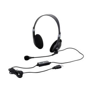 (送料/540円)ナカバヤシ Digio2 USBヘッドセット (両耳オーバーヘッドタイプ) MHM-SU13BK (メール便不可)|homeshop
