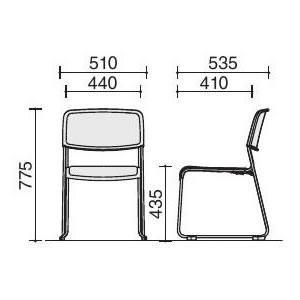 KOKUYO 会議用スタッキングチェア 890Series(890シリーズ) CK-S890 (布タイプ・カラー選択式)(メール便不可)|homeshop|03