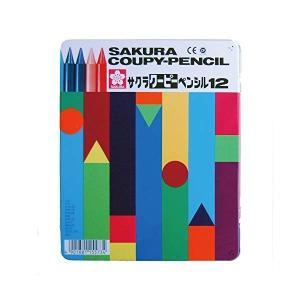 (送料/540円)サクラクレパス クーピーペンシル 12色セット FY12 (缶入り)(メール便不可)|homeshop