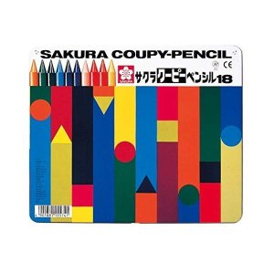 (送料/540円)サクラクレパス クーピーペンシル 18色セット FY18 (缶入り)(メール便不可)|homeshop