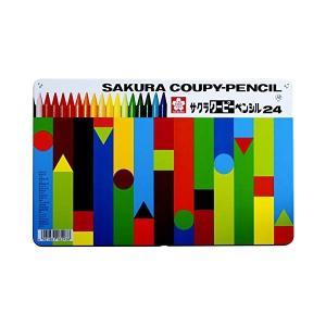 (送料/540円)サクラクレパス クーピーペンシル 24色セット FY24 (缶入り)(メール便不可)|homeshop