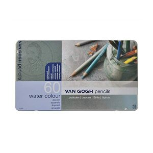 (送料/540円)サクラクレパス ヴァンゴッホ水彩色鉛筆 60色セット(メタルケース入り) T9774-0065(メール便不可)|homeshop