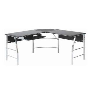メーカー直送 不二貿易 テーブル 80598 ガラスPCデスク L型 CT-1040BK ブラック の商品画像|ナビ