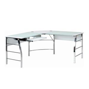不二貿易 テーブル【70391】 ガラスPCデスク L型 CT-1040WH(ホワイト)  天板は強...
