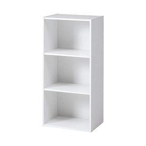 不二貿易 ラック 【93501】 カラーボックス 3段 HP943 ホワイト  収納には欠かせないア...