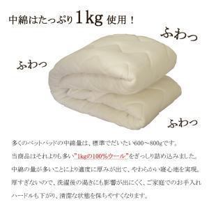 (日本製)東京西川 ウォッシャブルウールベッドパッド シングル (詰めもの:ウール100% 1.0Kg) (品番:CM08002987) (メール便不可)(ラッピング不可)|homeshop|06