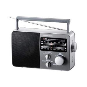 オーム電機 AM/FMポータブルラジオ RAD-F770Z-H グレー (07-7775)(メール便不可) homeshop