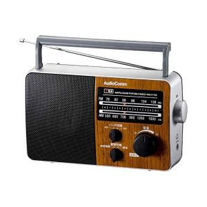 オーム電機 AM/FMポータブルラジオ RAD-F770Z-WK 木目調 (07-7776)(メール便不可) homeshop