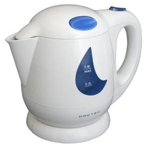 ドリテック PO-307BL ブルー わくわくケトル0.8L [PO307BL][電気ケトル][dretec](メール便不可)|homeshop