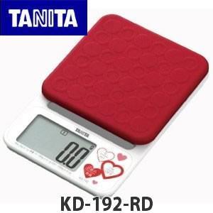 (クッキングスケール)TANITA タニタデジタルクッキングスケール KD-192 レッド(KD192)(メール便不可)|homeshop