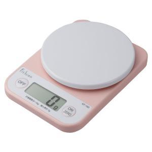 TANITA(タニタ) デジタルクッキングスケール KF100PK ピンク 収納しやすいコンパクトサ...